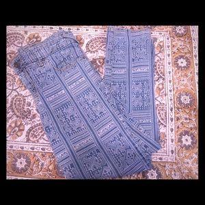 Free People Jeans Aztec Print